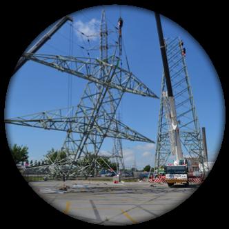 montage pylones